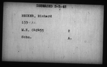 PoW Index Card for Richard Becker. Source: Library and Archives Canada.