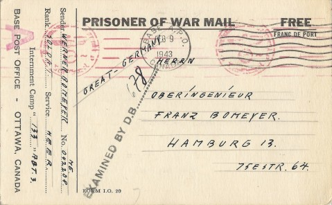 Bomeyer, Werner - 133 - Postcard Front copy