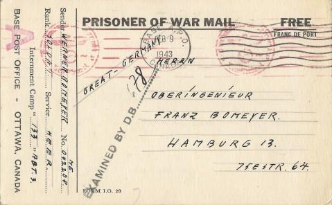 Bomeyer, Werner - 133 - Postcard Front copy