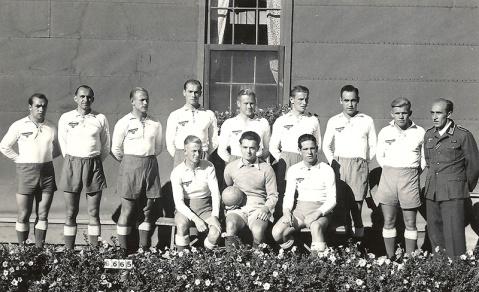 Soccer team at Camp 133, Lethbridge.